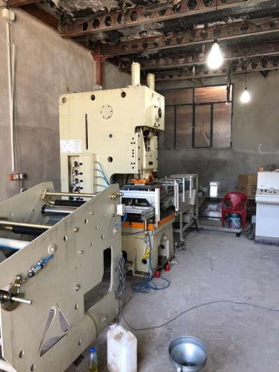 used aluminium container making machine